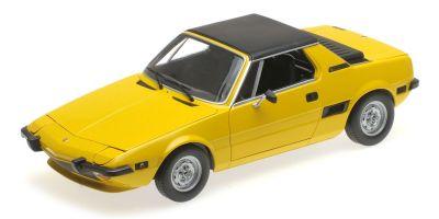 MINICHAMPS 1/18scale FIAT X1/9 – 1974 – YELLOW  [No.100121664]