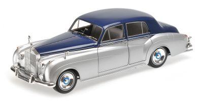 MINICHAMPS 1/18scale ROLLS ROYCE SILVER CLOUD II – 1960 – SILVER/BLUE  [No.100134902]