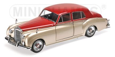 MINICHAMPS 1/18scale BENTLEY S2 – 1960 – SILVER/DARK RED  [No.100139950]