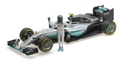 MINICHAMPS 1/18scale MERCEDES AMG PETRONAS F1 TEAM – F1 W07 HYBRID – ROSBERG – WORLD CHAMPION 2016 – W/ FIGURINE  [No.110160806]