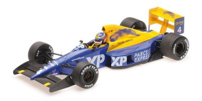 MINICHAMPS 1/18scale TYRRELL FORD 018 – JEAN ALESI – GP DEBUT – 4TH PLACE FRENCH GP 1989  [No.110890004]