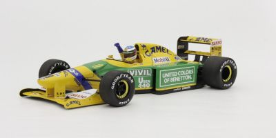 MINICHAMPS 1/18scale BENETTON FORD B192 – MICHAEL SCHUMACHER – 1ST GP VICTORY SPA 1992  [No.110920019]