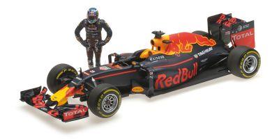 MINICHAMPS 1/18scale RED BULL RACING TAG HEUER RB12 – DANIEL RICCIARDO – AUSTRIAN GP 2016 – /W FIGURINE  [No.117160603]