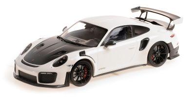 MINICHAMPS 1/18scale Porsche 911 (991.2) GT2RS 2018 White / Black Wheels  [No.155068301]