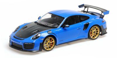 MINICHAMPS 1/18scale Porsche 911 (991.2) GT2RS 2018 Blue /Gold Wheel  [No.155068302]