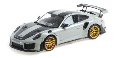 MINICHAMPS 1/18scale Porsche 911 (991.2) GT2RS 2018 Weissach Package Chalk / Gold Magnesium Wheels  [No.155068304]