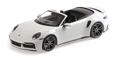 MINICHAMPS 1/18scale Porsche 911 (992) Turbo S Cabriolet 2020 White Metallic  [No.155069080]
