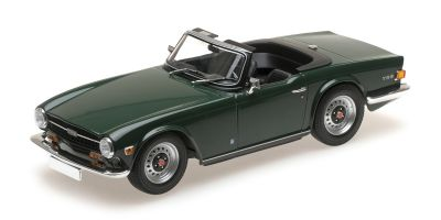 MINICHAMPS 1/18scale TRIUMPH TR6 – 1969 – DARK GREEN (LHD)  [No.155132030]