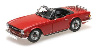 MINICHAMPS 1/18scale TRIUMPH TR6 – 1969 – RED (RHD)  [No.155132031]