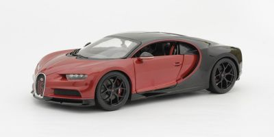Bburago 1/18scale Bugatti Chiron Sport (Black / Red)  [No.BUR11044]