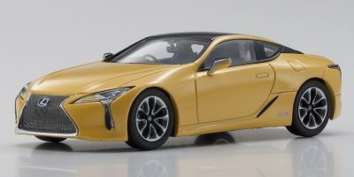 KYOSHO ORIGINAL 1/43scale Lexus LC500h Naples Yellow Contrast Layering  [No.KS03675NY]