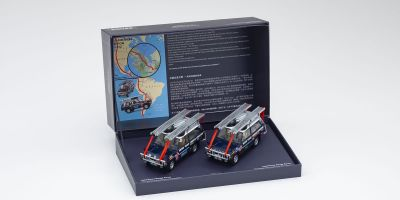 ALMOST REAL 1/43scale Range Rover Darien Gap Crossing 1971-72 2 Piece Set (Dark Blue)  [No.AL410100]