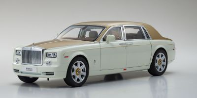 KYOSHO ORIGINAL 1/18scale Rolls-Royce Phantom EWB (English White/Gold)  [No.KS08841EWG]