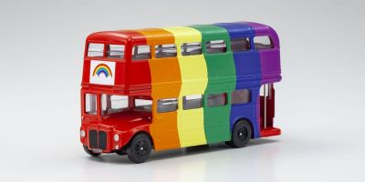 CORGI 1/64scale Double-decker London bus Rainbow  [No.CGGS82337]