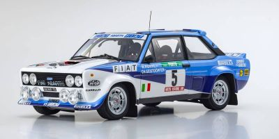 KYOSHO ORIGINAL 1/18scale Fiat 131 Abalt Rally 1980 Portugal # 5  [No.KS08376A]