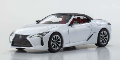 KYOSHO ORIGINAL 1/43scale Lexus LC500 Convertible (White Nova Glass Flake)  [No.KS03902W]
