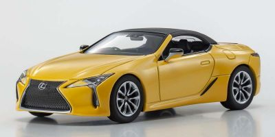 KYOSHO ORIGINAL 1/43scale Lexus LC500 Convertible (Naples Yellow Contrast Layering)  [No.KS03902NY]