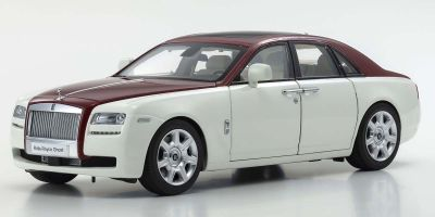 KYOSHO ORIGINAL 1/18scale Rolls-Royce Ghost (White / Red)  [No.KS08802EWR]