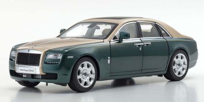 KYOSHO ORIGINAL 1/18scale Rolls-Royce Ghost (Brooklands Green / Gold)  [No.KS08802GRG]