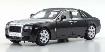 KYOSHO ORIGINAL 1/18scale Rolls-Royce Ghost (Black / Silver)  [No.KS08802BKS]