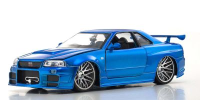 JADA TOYS 1/24scale F & F Nissan Skyline GTR (R34) Blue Brian O'Conner  [No.JADA97173]