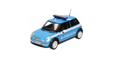 WELLY 1/24scale Mini Cooper Police car (POLIZIA) Light Blue/White [No.WE22075PC]