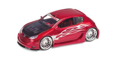 WELLY 1/24scale Peugeot 206 tuning Metallic Red [No.WE22486R]