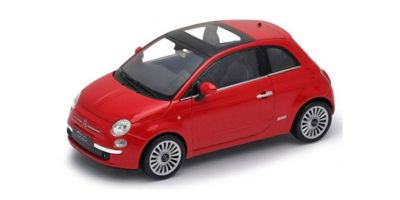 WELLY 1/24scale 2007 Fiat 500 Red [No.WE22514R]