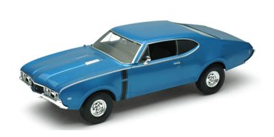 WELLY 1/24scale OLDSMOBILE 442 1968 Blue  [No.WE24024BL]