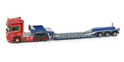 """IMC Models 1/50scale Scania top line 6 × 4 Goldhofer 3-axis low-loader """"Give Hansen""""  [No.IMC330008]"""