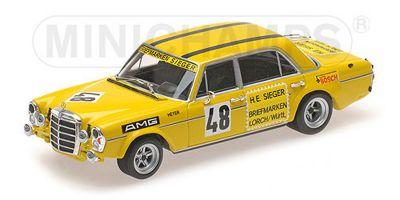 MINICHAMPS 1/43scale MERCEDES-BENZ 300 SEL 6.8 AMG – HANS HEYER – TEST DRIVE LE MANS 1972  [No.400723448]