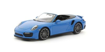 MINICHAMPS 1/43scale PORSCHE 911 (991.2) TURBO S CABRIOLET – 2017 – BLUE  [No.410067182]
