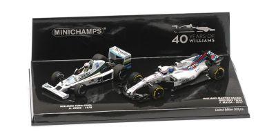 MINICHAMPS 1/43scale 2-CAR SET – WILLIAMS FORD FW06 JONES 1978/WILLIAMS FW40 MASSA 2017 – WILLIAMS F1 40TH ANNIVERSARY  [No.412177840]