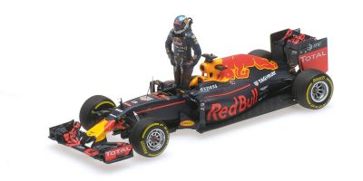 MINICHAMPS 1/43scale RED BULL RACING TAG HEUER RB12 – DANIEL RICCIARDO – AUSTRIAN GP 2016 – /W FIGURINE  [No.417160603]