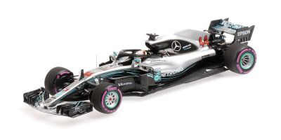 MINICHAMPS 1/43scale MERCEDES AMG PETRONAS FORMULA ONE TEAM-LEWIS HAMILTON-MEXICAN GP WORLD CHAMPION 2018  [No.417181944]