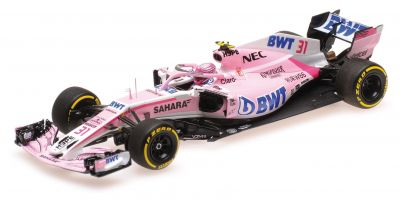 MINICHAMPS 1/43scale SAHARA FORCE INDIA F1 TEAM – ESTEBAN OCON – SHOWCAR 2018  [No.417189031]