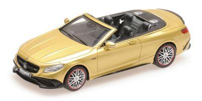 MINICHAMPS 1/43scale BRABUS 850 MERCEDES-AMG S 63 S-CLASS CABRIOLET - 2016 - GOLD  [No.437034234]