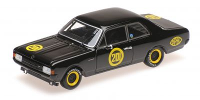 "MINICHAMPS 1/43scale Opel Rekord 1900 ""SCHWARZE WITWE"" ERICH - BITTER - 2. AVD - RUNDSTRECKENRENNEN CAROLUS MAGNUS ZOLDER 1968  [No.437684601]"