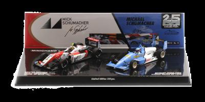 MINICHAMPS 1/43scale Reynard Spies F903 Michael Schumacher Macau GP 1990 (Resin) / Dallara Mercedes F317 Mick Schumacher Macau GP 2018 (Diecast) 2set  [No.512901839]