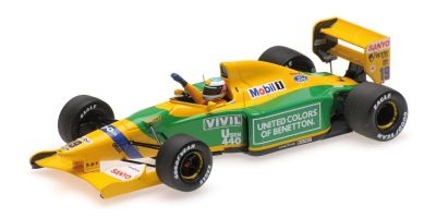 MINICHAMPS 1/43scale BENETTON FORD B192 – MICHAEL SCHUMACHER – 1ST F1 WIN BELGIAN GP 1992  [No.517924318]