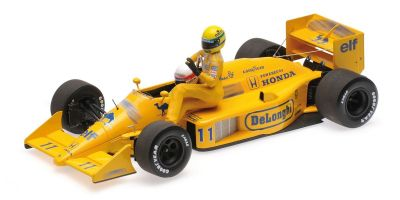 MINICHAMPS 1/18scale LOTUS HONDA 99T – AYRTON SENNA RIDING ON SATORU NAKAJIMA'S CAR – ITALIAN GP 1987 /W FIGURINE  [No.540871811]