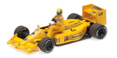 MINICHAMPS 1/43scale LOTUS HONDA 99T – AYRTON SENNA RIDING ON SATORU NAKAJIMA'S CAR – ITALIAN GP 1987 /W FIGURINE  [No.540874311]