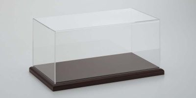 KYOSHO ORIGINAL 1/18scale 1/18 display case & base brown  [No.7302SET]
