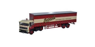 OXFORD 1/76scale DAF2800 40ft Curtainsideトレーラー Robsons Red/Cream [No.OX76D28001]