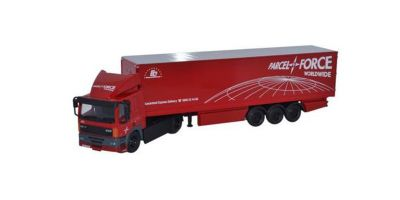 OXFORD 1/76scale Leyland DAF FT85CF 85 2 Axle 40ft Box Trailer Parcelforce Red [No.OX76DAF002]