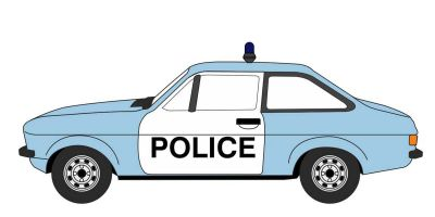 OXFORD 1/76scale Ford Escort Mk2 Police Car  [No.OX76ESC004]