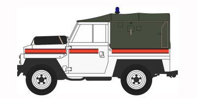 OXFORD 1/76scale Land Rover Lightweight RAF Akrotiri Police Car  [No.OX76LRL010]