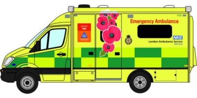 OXFORD 1/76scale Mercedes Ambulance London Remembrance Day (End of World War I)  [No.OX76MA007]
