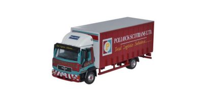 OXFORD 1/76scale MAN L2000 Box Van Curtainside Pollock Red [No.OX76MAN001]