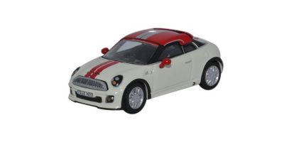 OXFORD 1/76scale Mini Cooper  Pepper White / Chirireddo   [No.OX76MC001]